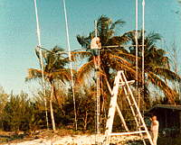 Raising 4 yagi EME array in C6A